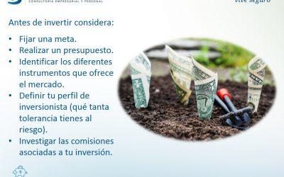 Consideraciones antes de Invertir